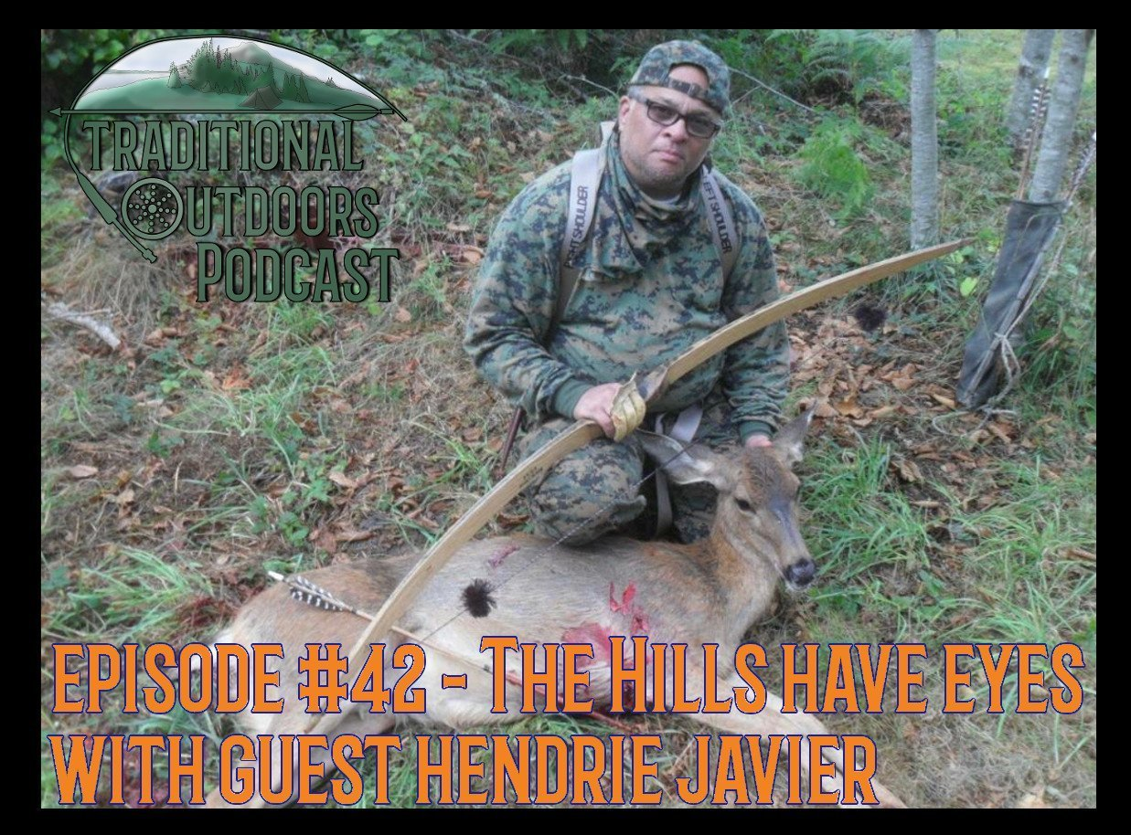 Hendrie Javier and a deer taken with one of his primitive bows